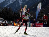 Daniel Mesotitsch am Weg zum dritten Platz im Staffelbewerb
