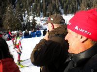 Radlwolf, Mitglied vom Fanclub Mesotitsch, beim Biathlon Weltcup in Antholz