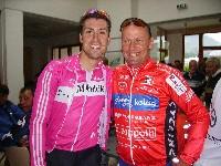 """Bernie Eisel und """"Radlwolf"""" bei der """"Tour de Franz"""" 2007"""