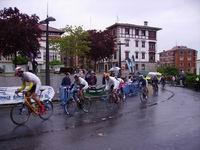 Behindertenradrennen bei Regen und 7 Grad.
