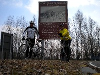 Radlwolf mit Trainingspartner Kurt Strobl auf den Spuren des legendären Radprofis Ottavio Botteccia