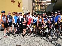 Die Teilnehmer des Radkurses 2011 vor dem Hotel Marina in Gatteo/Mare