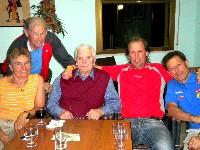 v.l.n.r. Gerhild, Heinz, Geburtstagskind Adi, Radlwolf und Alois
