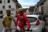 Michi Kurz und Radlwolf beim Paracycling Europacup in Elzach