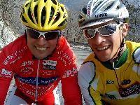 Radlwolf und Michi Kurz im Bereich Cavazzo See