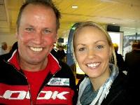Weltmeisterin Jasmin Ouschan mit Paralymicsilbermedaillengewinner Wolfgang Dabernig