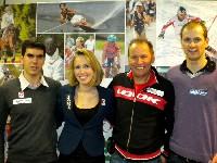 Die Gailtaler Kärnten-Sport Vertragsportler Stefan Eder Schiessen, Stephanie Wiedner Mountainbike, Wolfgang Dabernig Behindertenradsport und Uwe Hochenwarter Mountainbike