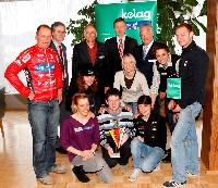 Wolfgang Dabernig (Behindertenradsport), Werner Pietsch (Kelag), Raimund Berger (Kärnten Sport), DI Harald Kogler (Kelag), Reinhard Tellian (Landesportdirektor),