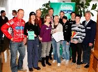 Wolfgang Dabernig (Behindertenradsport), Marlies Penker (Triathlon), Raimund Berger (Kärnten Sport),Julia Schmid (Kanu), DI Harald Kogler (Kelag), Jasmin Ouschan (Billard), Andreas Rapatz (Leichtathletik), Lisa Perterer (Triathlon), Christian Zluga (Schwimmen), Patrick Ofner (Tennis), Reinhard Tellian (Landesportdirektor).
