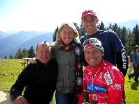Die Jakobsweg Pilgerradler 2009 v.l.n.r. Kurt Strobl, Silke Napetschnig, Michael Kurz und Radlwolf