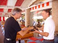 Sportlandesrat Peter Kaiser und Wolfgang Dabernig