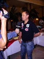 Radlwolf beim Fernsehinterview für KT1