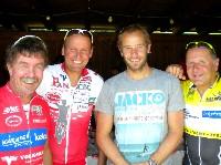 Ossi Jochum, Paralymicsilbermedaillengewinner Wolfgang Dabernig, Olympiasilbermedaillengewinner Daniel Mesotitsch und Kurt Strobl