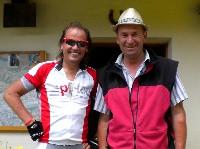 Radlwolf mit dem ehemaligen österreichischen Skirennläufer Bernhard Flaschberger