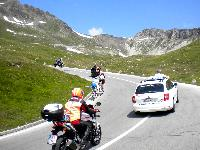 Jakob Fuglsang/ DEN. und Leopold König/ CZE ca. 2 km vor der Bergwertung Hochtor-Großglockner
