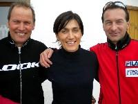 Paralympicsilbermedaillengewinner Wolfgang Dabernig, Olympiasiegerin Gabriella Paruzzi und Erfolgstrainer Harald Rodlauer