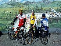 v.l. Radlwolf, Michi und Nils Kurz in Ligosullo