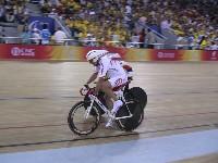 Radlwolf wird von Pierre Senska im 3000m Verfolgungsrennen nach 2000m eingeholt