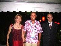 Othmar Wassermann mit Gattin und Radlwolf