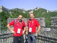 Erich Stauffer und Radlwolf bei der Chinesischen Mauer