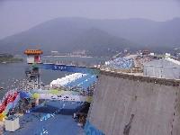 Start und Zielgelände Straßenrennen Shisangling Reservoir