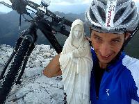 Michael Kurz bei der Marienstatue am Monte Peralba in 2694m Seehöhe