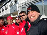 Ossi Jochum, Michael Kurz, Kurt Strobl, Josef Mikl und Radlwolf beim Biathlon WC in Pokljuka