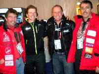v.l. Ossi Jochum, Sprintsieger Jakov Fak, Radlwolf und Pepe Mikl (Danke für die VIP-Karte)