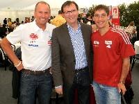 v.l. Wolfgang Dabernig, Sportminister Norbert Darabos und Michael Kurz