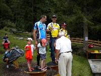 Siegerehrung LC2 Christian Wilberger, Michi Kurz und Martin Falch