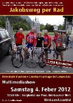 """Einladung  Multimediashow """"Jakobsweg per Rad"""" im Gasthof Birnbaumer, Wirt Berghotel zur Post in Birnbaum/Lesachtal"""