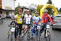 Nils Kurz, Michael Kurz, Sieger Siegi Hochenwarter, Siegerin Sabine Harder und Radlwolf