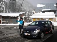 Winterlicher Grenzübergang Plöckenpass