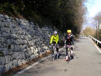 """Sabrina und Radlwolf auf der """"la Strada di Botteccia"""" in Friaul Italien"""
