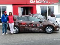 Radlwolf und Karin Franz freuen sich über den neuen Cia Ceed