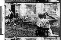 """Wolfgang Dabernig mit Anni Dabernig, Karin Franz und Annemarie Dabernig im Film """"Hotel Roccalba"""""""