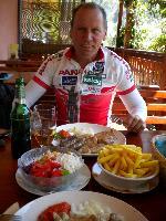 Mittagspause in Slovenien, man gönnt sich ja sonst nichts!