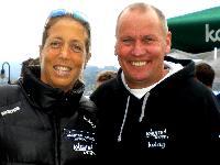 Ruderweltmeisterin Michaela Taupe-Traer mit Radlwolf