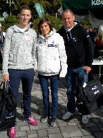 v.l. die Olympioniken Alexander Gehbauer MTB, Lisa Perterer Triathlon und Paralympic-Silbermedaillengewinner Wolfgang Dabernig