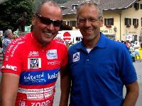 Radlwolf und Ex-Profi und ORF-Co Kommentator Gerhard Zadrobilek, Zadrobilek ist der erste Radsportler der Welt, der jeweils ein Straßen- und ein Mountainbike-Weltcuprennen gewann