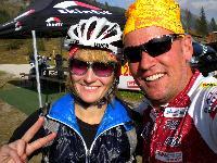 Trainingspartnerin Sabrina und Radlwolf retteten die Ehre der Kötschacher Hobbyradler mit dem 5. bzw. 2.Platz