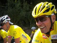v,l. 3 fach Olympiasieger Nordische Kombination Felix Gottwald und Radlwolf bei der Tour de Franz 2013