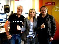 """v.l. Radlwolf, Sonja Engl-Kleindienst und Günther Schreibmajer zu Gast in der Sendung """"Stadt Land Kärnten"""" bei ORF Radio Kärnten"""