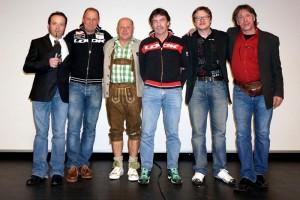 v.l. Moderator Michael Buchacher (Buzgi), Wolfgang Dabernig (Radlwolf), Kurt Strobl, Ossi Jochum, Günther Schreibmajer und Hubert Waldner