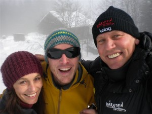 """Katja, Klausi und Radlwolf freuen sich über die """"Loncium Stärkung"""""""