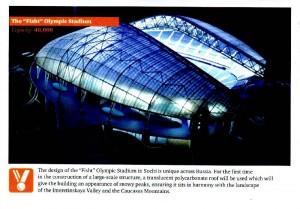 "Das ""Fisht"" Olympiastadion in Sochi/ Russland"