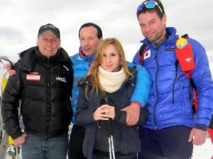 Radlwolf, Medaillenmacher Harald Rodlauer und Janko Zwitter Damenschisprungtrainer Japan mit Gattin Mateja