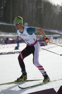 Michael Kurz bei seinem 20-km-Langlauf zu Platz 10.  © ÖPC/Franz Baldauf