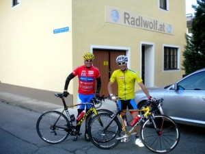 Start in der Radlwolfi_Olympiagasse