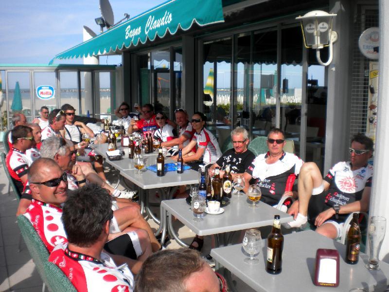 Nachbesprechung der Trainingsausfahrten mit den Freunden der Feistritzer Hobbyradlerrunde aus dem Drautal